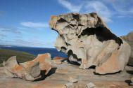 Diese Steine hier sehen schon cool aus. Alles nur von Wind und Salzwasser geformt