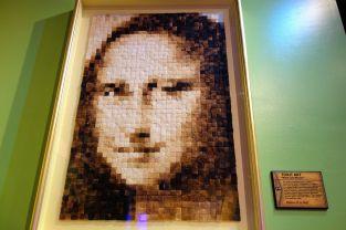 Eine Mona Lisa - gemacht aus Toast