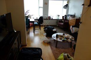 Die alte Wohnung wurde wie gewohnt verlassen: Als Schlachtfeld