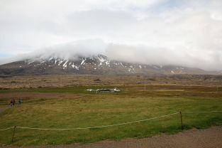 Der Gletscher versteckt sich hier trotz ein paar Sonnenstrahlen leider komplett im Wolkenteppich