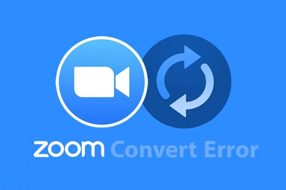 How to restore ZOOM convert error files