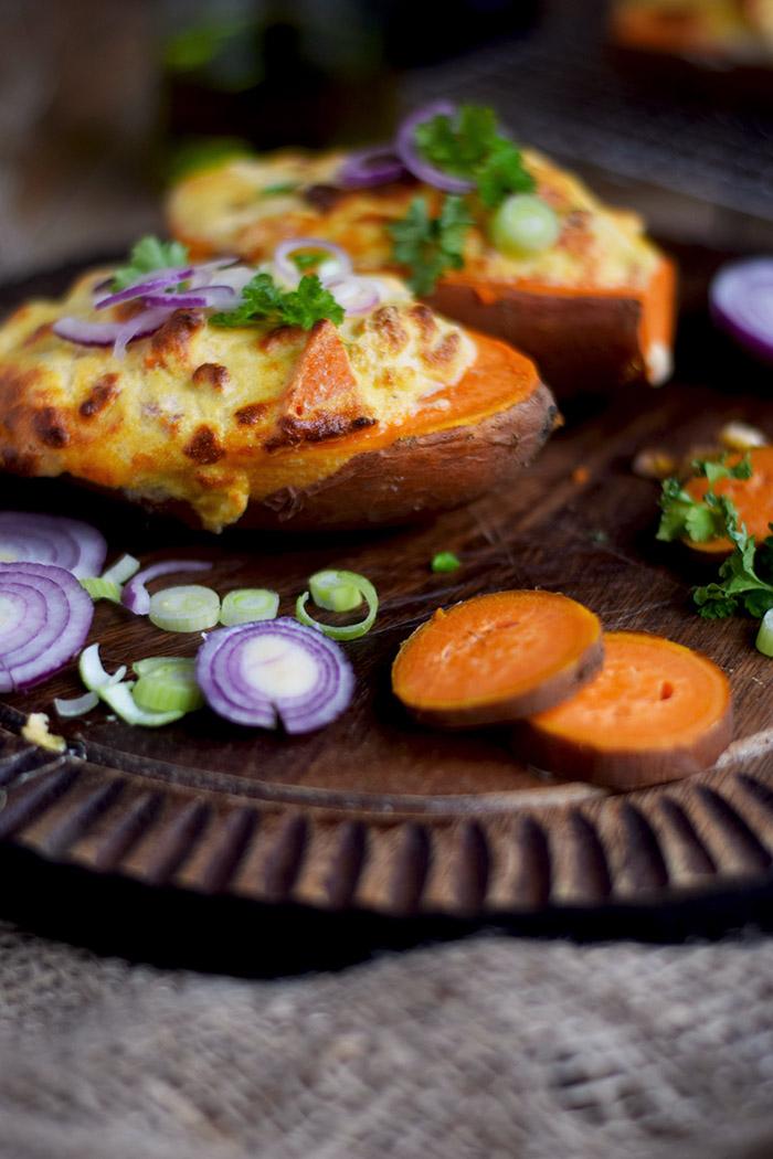 Gefüllte Süßkartoffeln - Stuffed Sweet Potatoes (14)