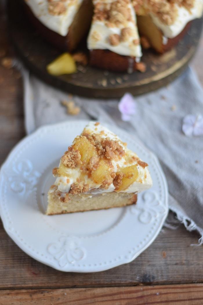 Knuspriger Apfel-Crumble-Kuchen mit Vanille 15