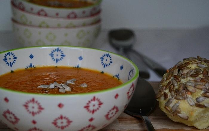 Roasted Paprika Möhren Suppe