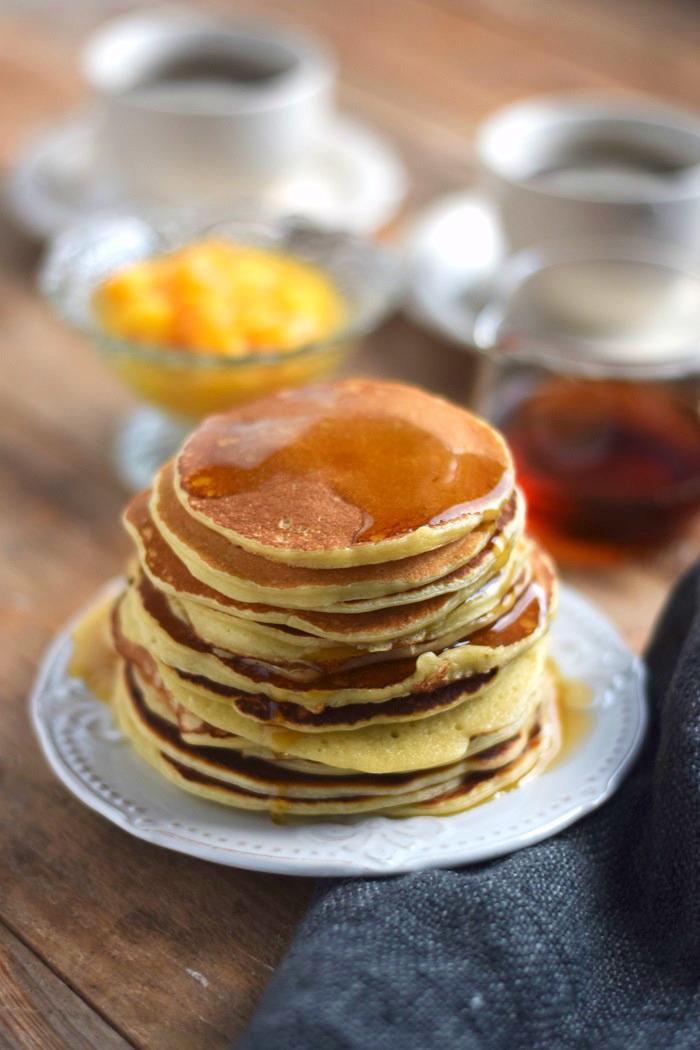 Pancake Breakfast - Pancake Frühstück - Pancakes with maple syrup (6)