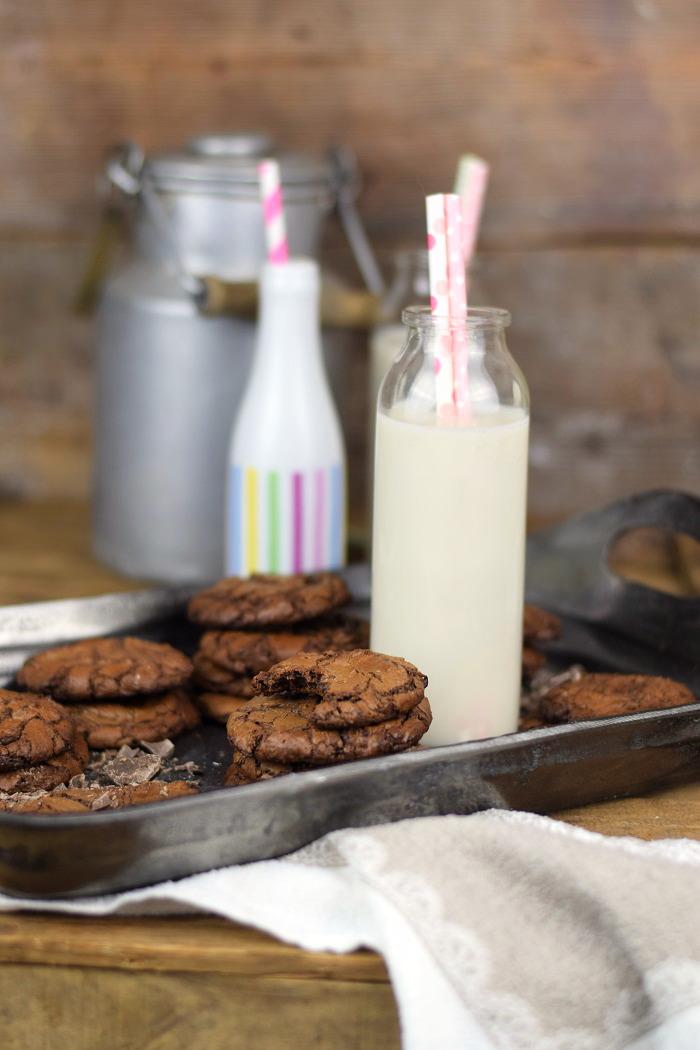 Schokoladige Saftige Brownie Cookies - Chocolate Brownie Cookies (13)
