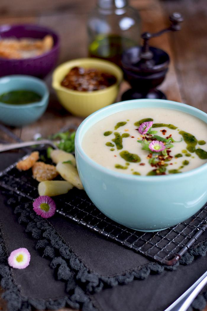 Spargelsuppe mit geheimer Zutat - Asparagus Soup (12)