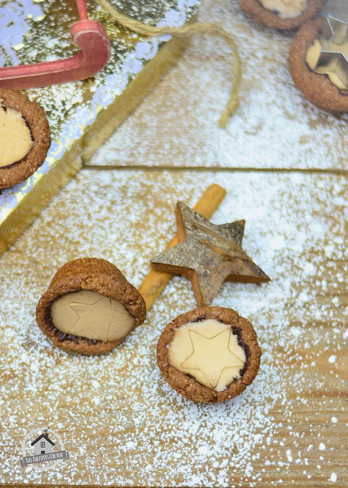 Lebkuchen Cookie Cups mit Lebkuchen Panna Cotta 4
