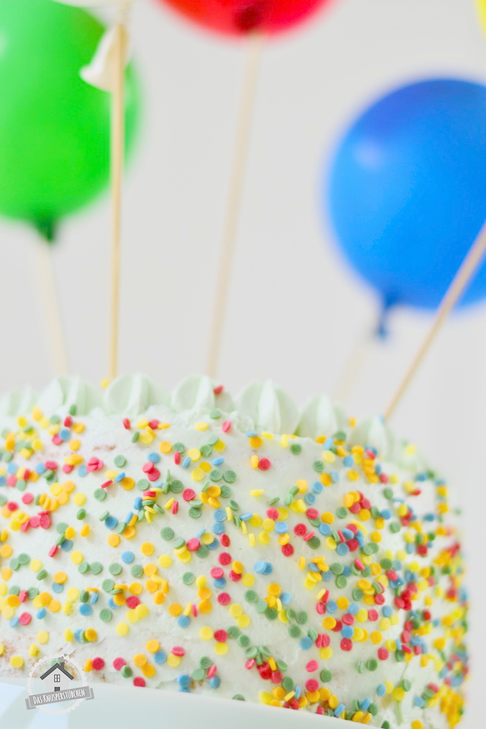 Marzipan Geburtstagstorte Luftballons  6