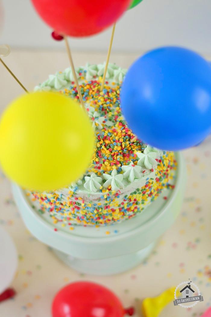 Marzipan Geburtstagstorte Luftballons