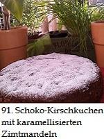 91Schoko-Kirschkuchen mit karamellisierten Zimtmandeln von Marvin