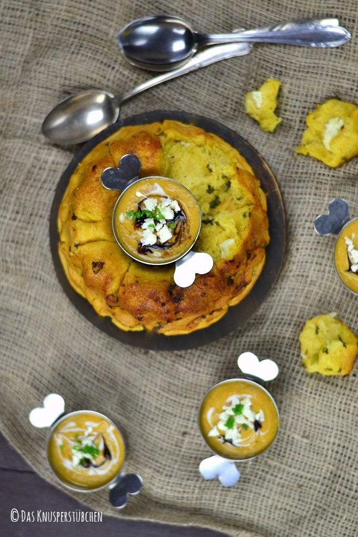 Suesskartoffel Linsensuppe mit Monkeybread 9-1