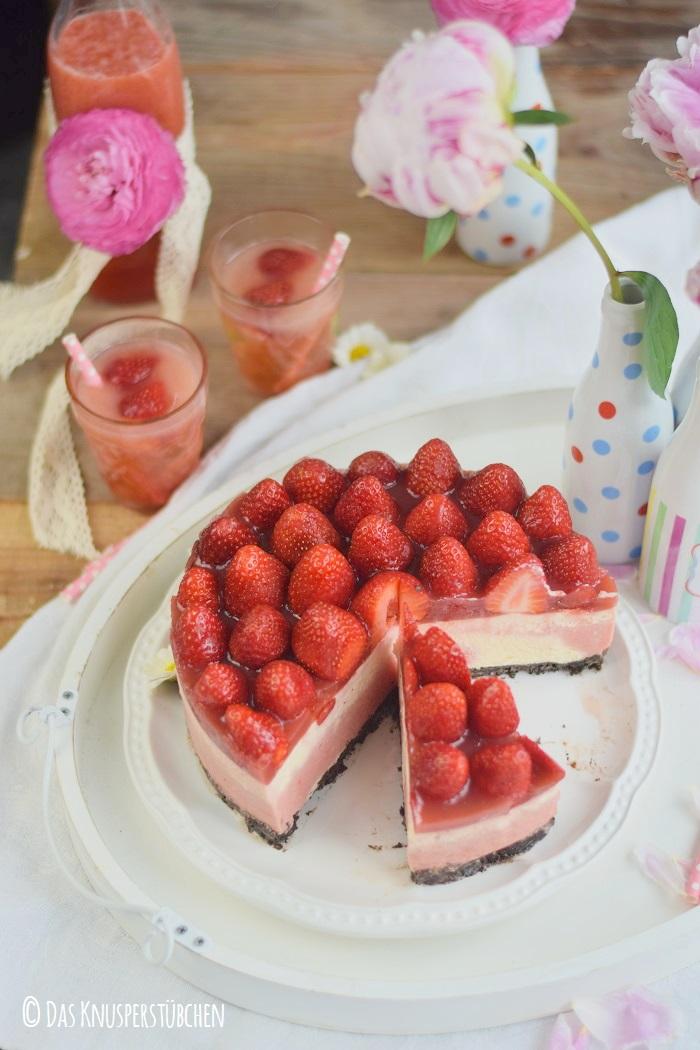 Erdbeer Katamell Cheesecake 20