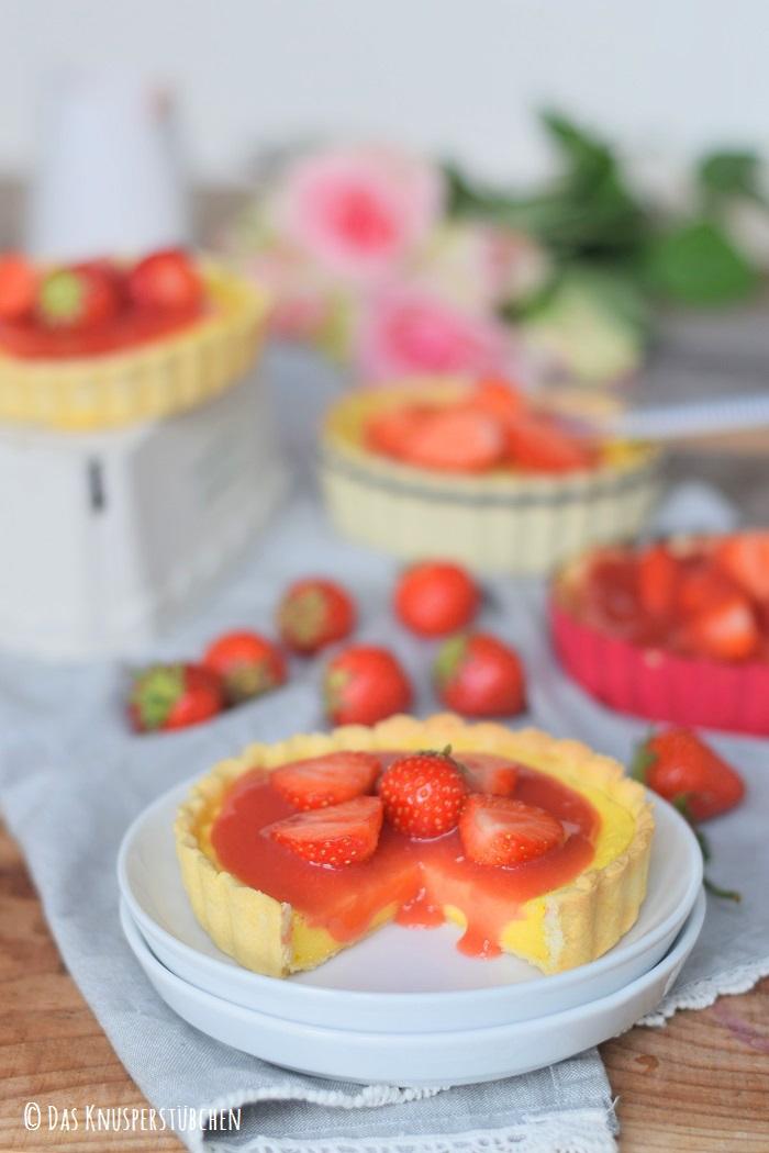 Erdbeer Pudding Tartelette 12
