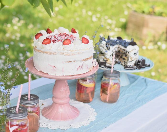 Erdbeer Kokos Raffaello Torte 8