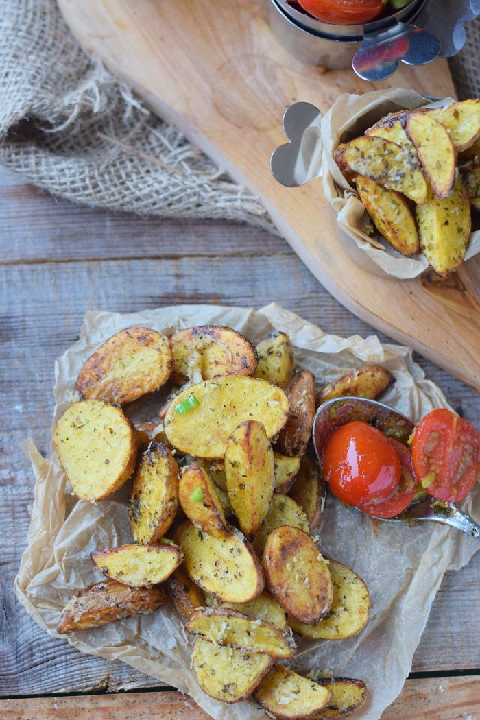 Ofenkartoffeln mit karamellisierten Tomaten 8