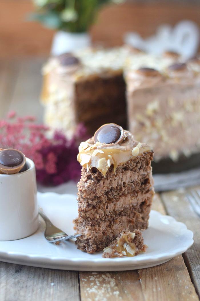 Karamell Nougat Haselnuss Toffifee Torte - Caramel Hazelnut Chocolate Cake (13)