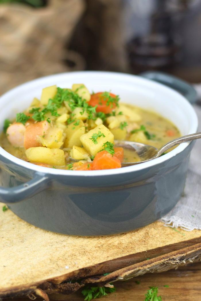 Grundrezept Gemuesebruehe & Kartoffelsuppe - Vegetable stock and Potato Soup (13)