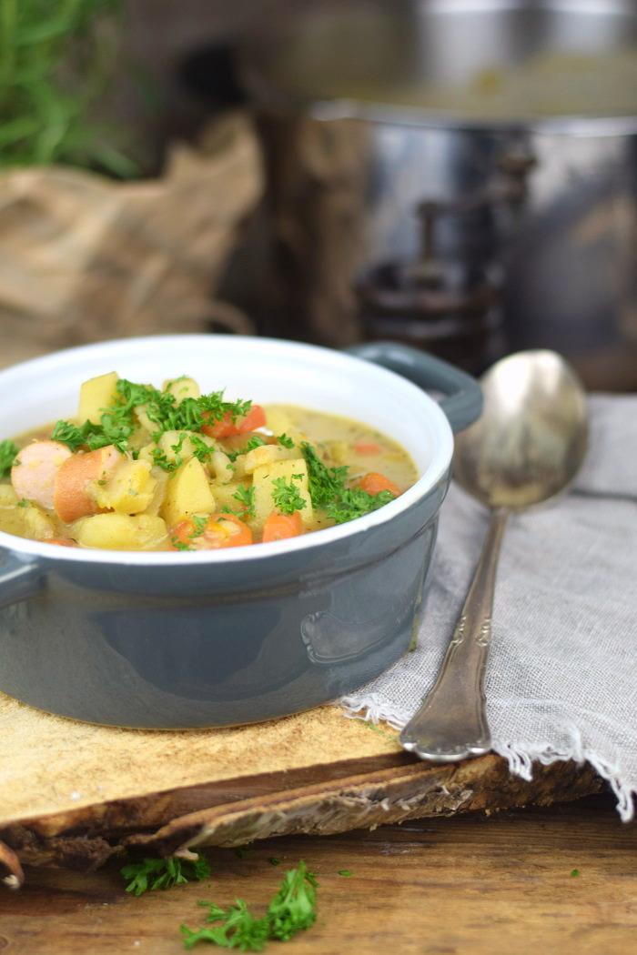 Grundrezept Gemuesebruehe & Kartoffelsuppe - Vegetable stock and Potato Soup (8)