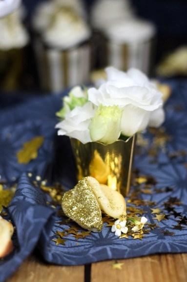 Neujahrsleckereien - Glückskekse mit weisser Schokolade