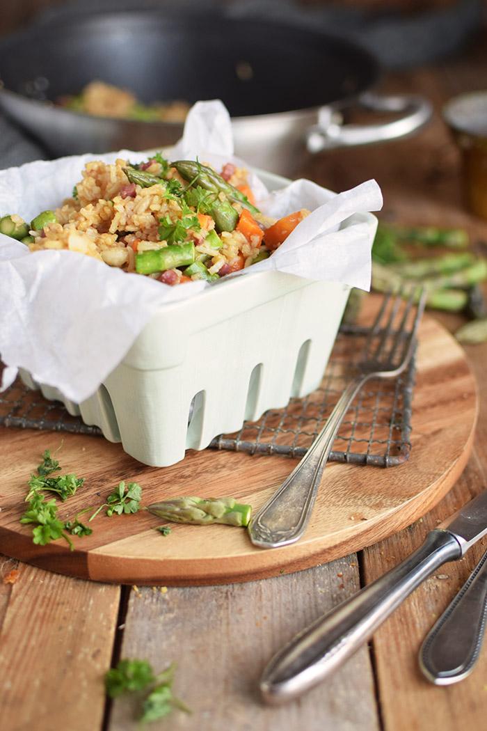 Fried Rice with asparagus - Gebratener Reis mit Spargel (9)
