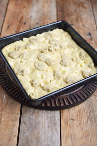 Butterkuchen mit Pudding - Butter Custard Cake Rezept (2)