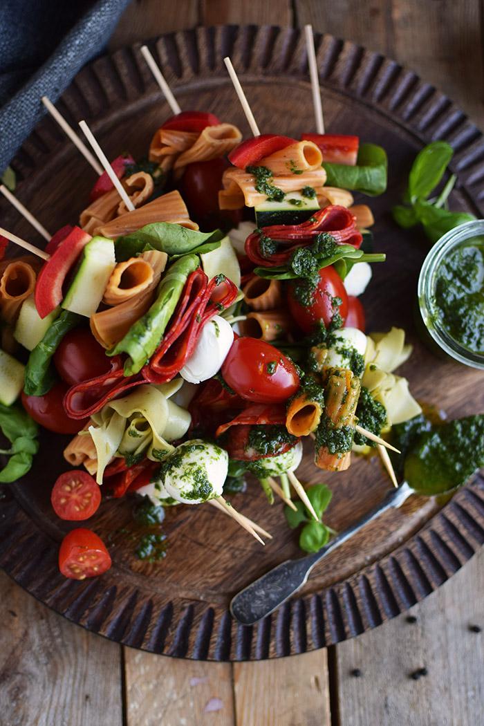 Pasta Salat Spiesse - Pasta Salad Skewers (15)