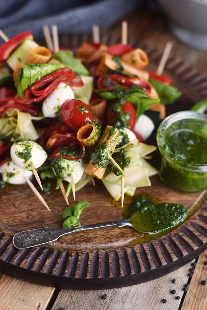 Pasta Salat Spiesse - Pasta Salad Skewers (32)