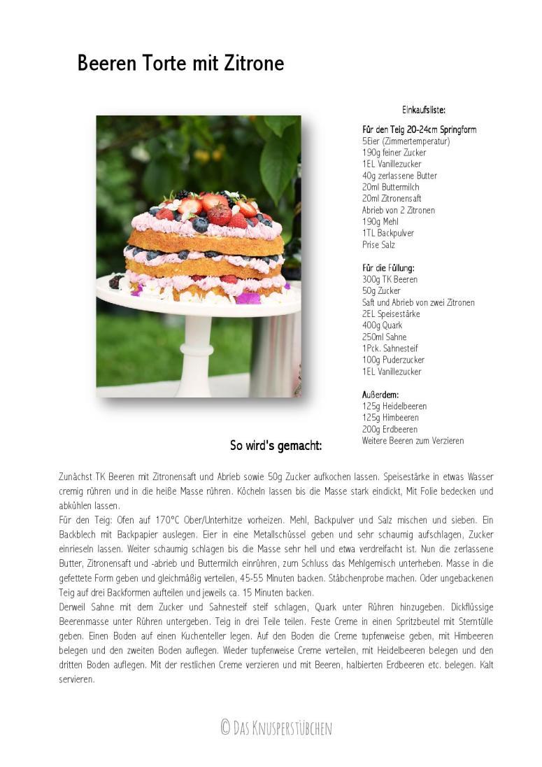 Beeren Torte mit Zitrone-001