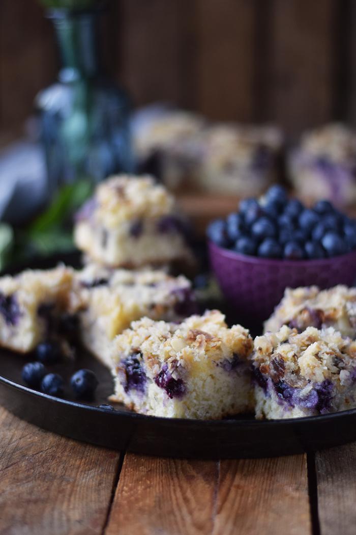 Buttermilch Blaubeer Kuchen - Familienrezept - Buttermilk Blueberry Sheet Cake (4)