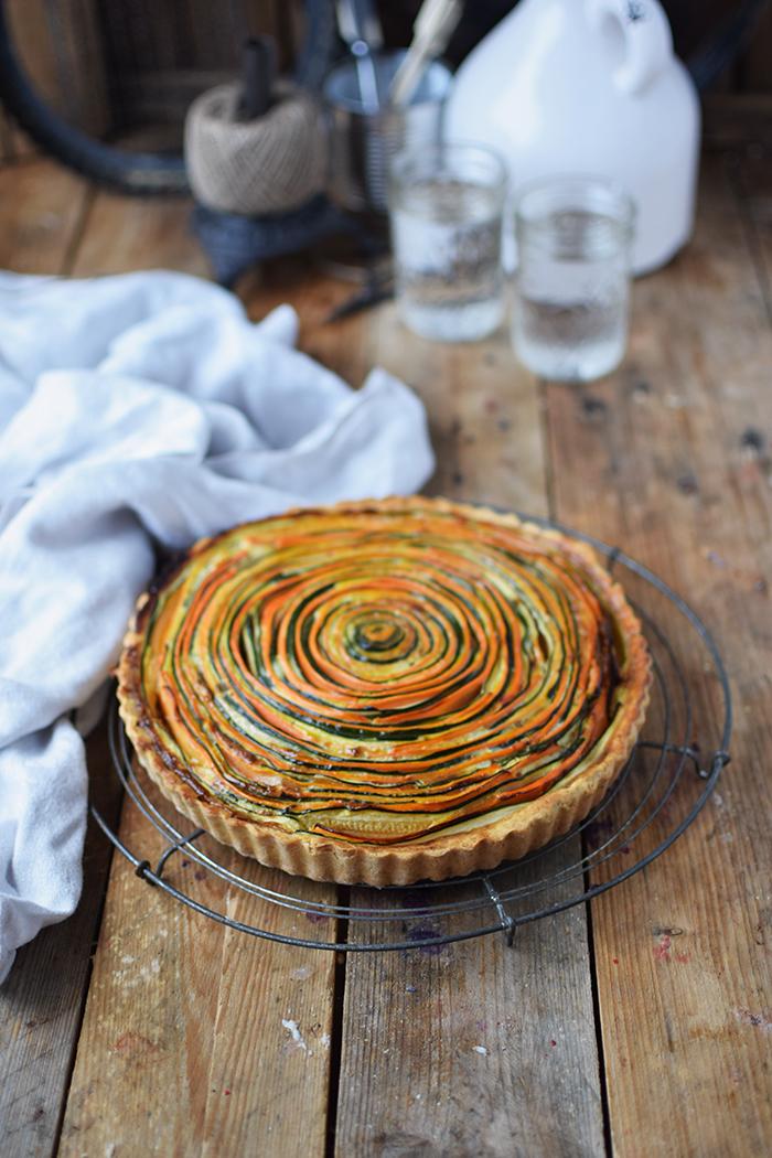 Gemuese Spiral Tarte - Vegetable Spiral Tart (4)