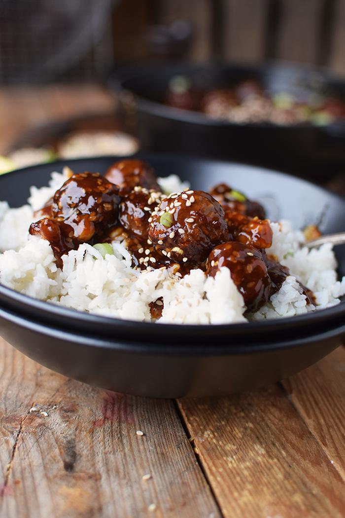 Sesam Teriyaki Fleischbaellchen - Sesame Teriyaki Meatballs (8)