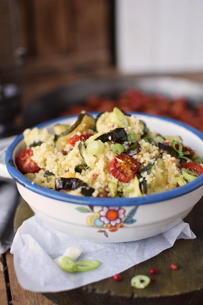 Couscous Salat mit Ofengemuese - Couscous Salad with roasted vegetables (10)