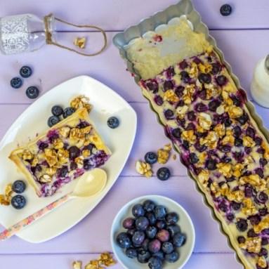 Blaubeer Tarte mit Frischkäse von Ofenkieker