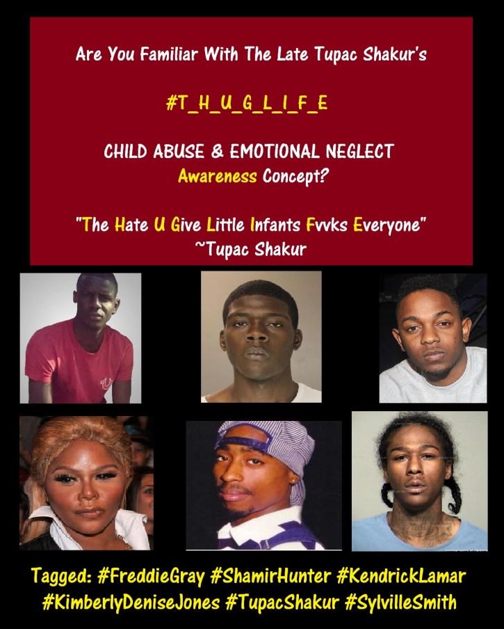 Tupac Child Abuse & Emotional Neglect AWARENESS