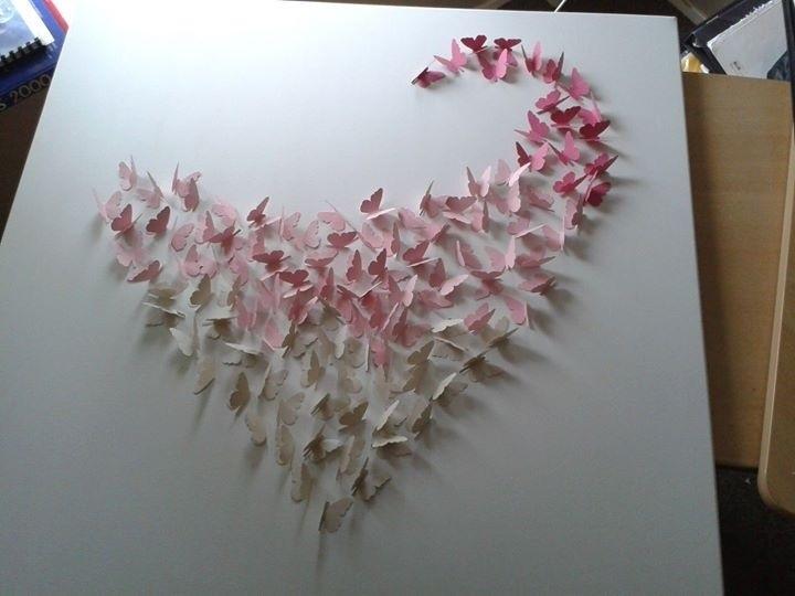 Hart met kleine vlinders