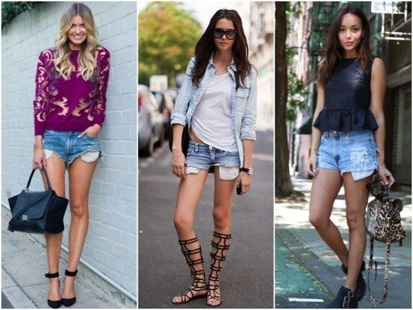 Модные джинсовые шорты - 5 вариантов женских шорт с фото