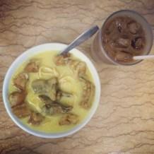 Eat it in Myanmar style - coconuty noodles