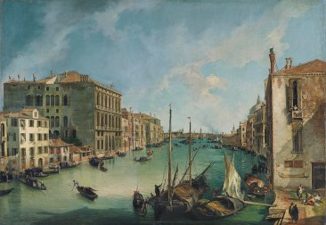 Grand Canal, Looking East from the Campo San Vio - Canaletto, 1723-24
