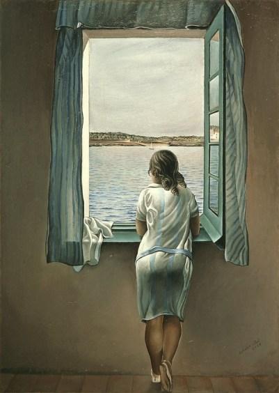 Girl at a Window - Salvador Dalí, 1925