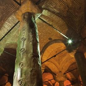 Green,Peacock-column,In,The,Basilica,Cistern,,Yerebatan,Saray?,,Sunken,Palace,