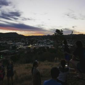 Everyone was kinda anticipating the sunset