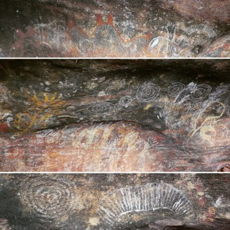 The mysterious and interesting paintings on the rock - maybe they have left a message?