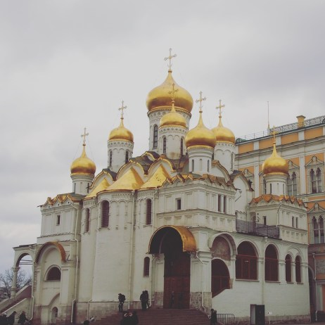 The Annunciation cathedral constructed in 1505-1508 was used as a burial vault for Moscow Great Princes, Appanage Princes and Russian Tsars.
