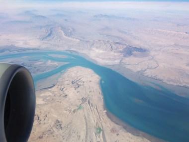 Qatar Airways out the window