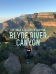 The Majestic Green Canyon – Blyde River