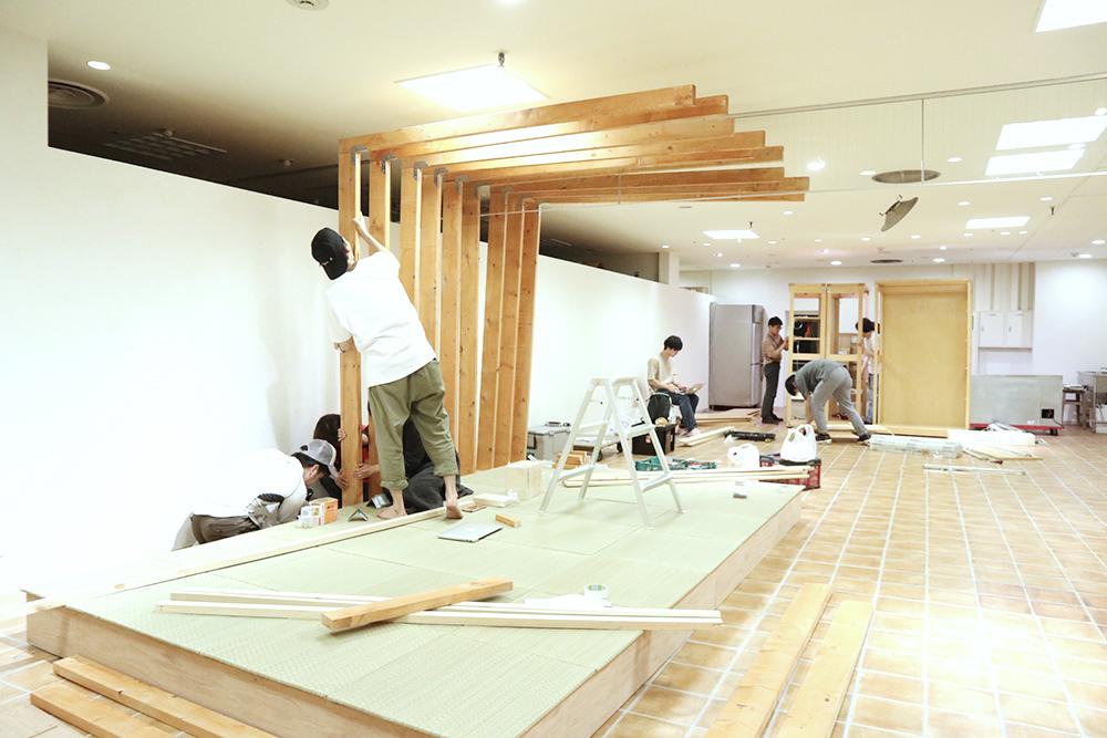 『美観堂』東急百貨店吉祥寺店、設営時の様子