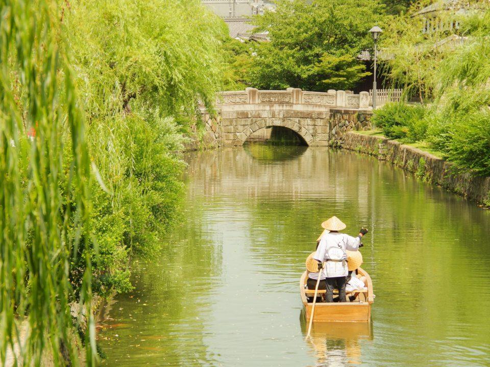 倉敷美観地区、倉敷川の川舟