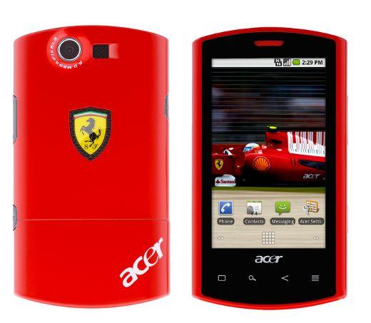 Acer представила Android-смартфон Liquid E Ferrari