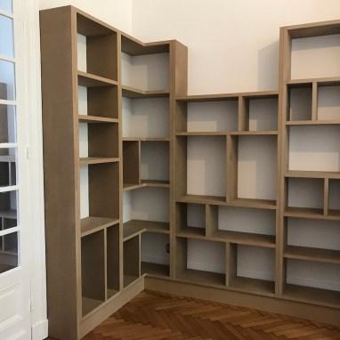 Bibliothèque sur mesure en MDF, prêt à peindre